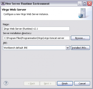 Eclipse configure Virgo server path