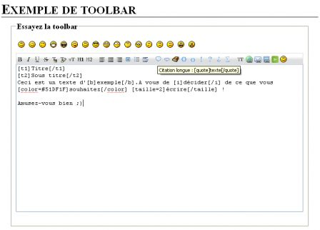 Exemple de toolbar